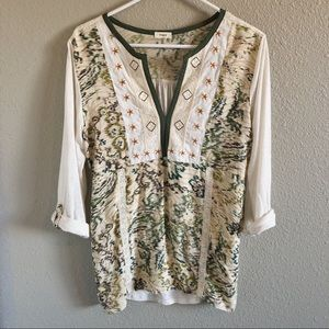 Anthropologie Tiny Pop Over Top Blouse